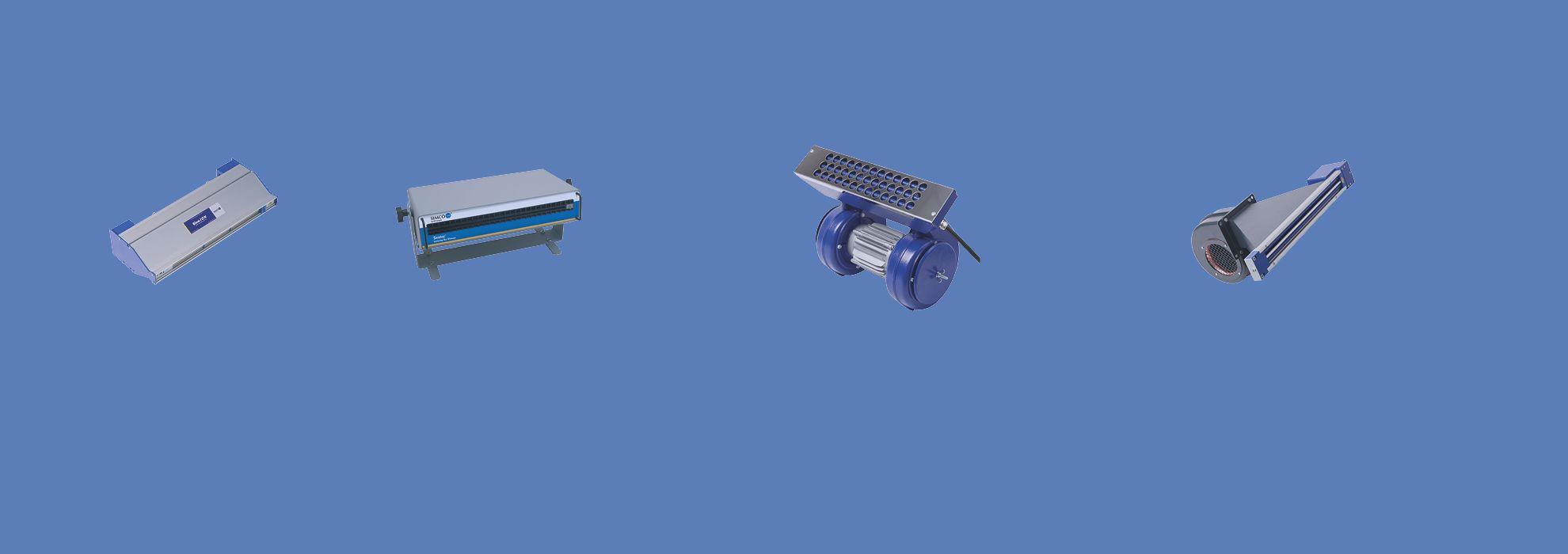 Souffleries ionisantes for Enlever l electricite statique